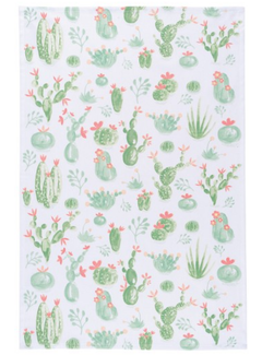Now Designs Cacti White Dish Towel