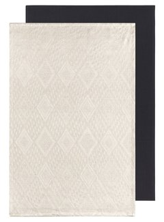 Now Designs Mosaic Dish Towel Set - Unbleached
