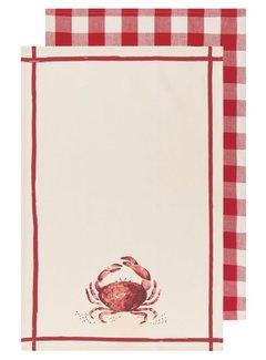 Now Designs Crab Dish Towel - 2 Pc Set