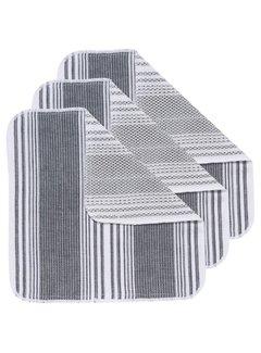 Now Designs Black Scrub-It Dishcloths - Set of 3