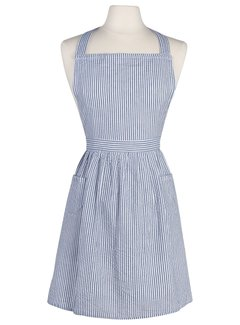 Now Designs Classic Blue Seersucker Apron