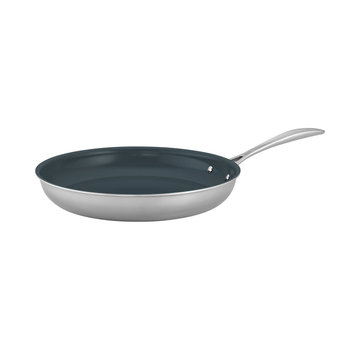 """Zwilling Cookware Clad CFX 10"""" SS Ceramic Non Stick Fry Pan"""
