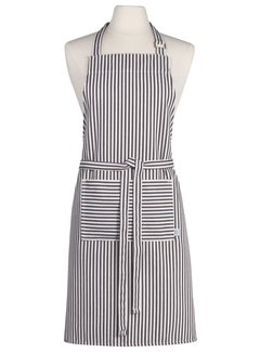 Now Designs Black Narrow Stripe Chef's Apron