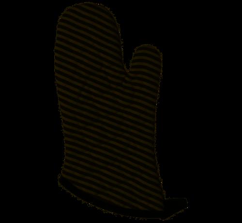 Now Designs Black Narrow Stripe Superior Oven Mitt