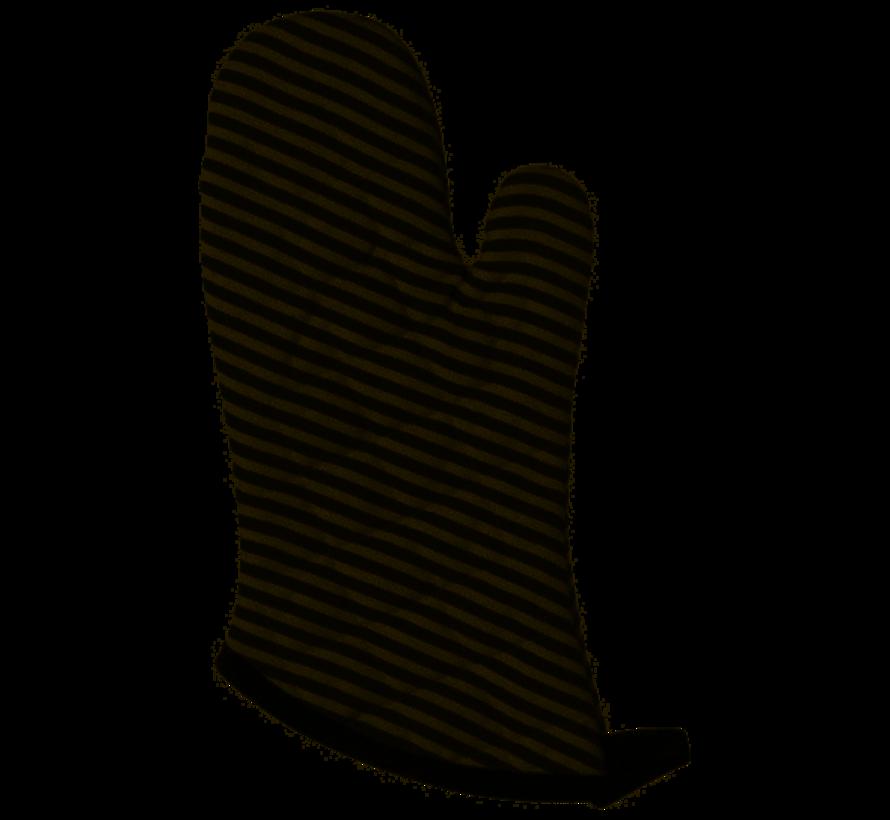 Black Narrow Stripe Superior Oven Mitt