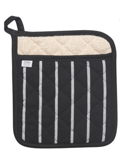 Now Designs Black Chef Stripe Superior Potholder