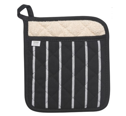Now Designs Black Chef Stripe Superior Potholder