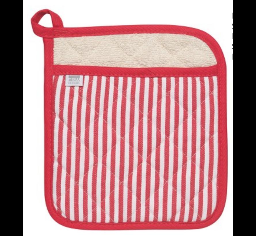 Red Narrow Stripe Superior Potholder