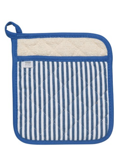 Now Designs Blue Narrow Stripe Superior Potholder