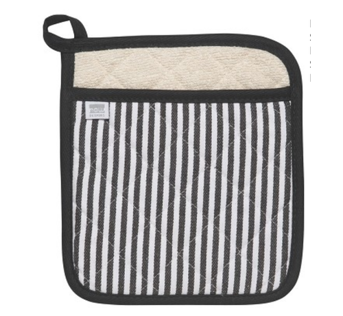 Now Designs Black Narrow Stripe Superior Potholder