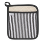 Black Narrow Stripe Superior Potholder