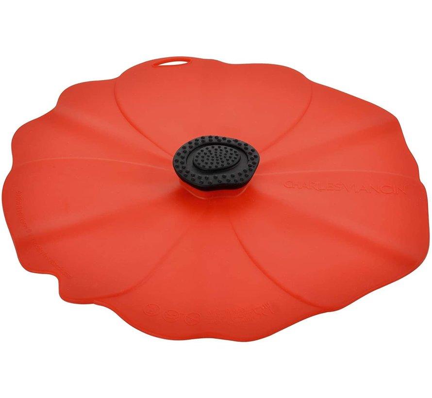 Poppy Lid 9'' (Red)