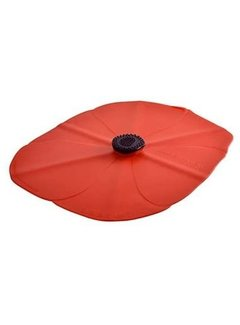 Charles Viancin Poppy Oblong Lid 14''x10'' (Red)