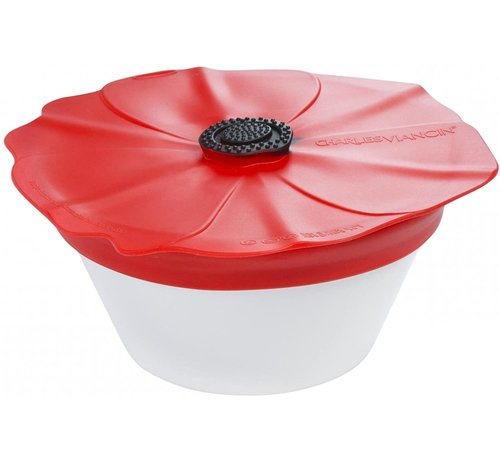 Charles Viancin Poppy Spill Proof Lid 11'' (Red Scarlet)
