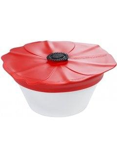 Charles Viancin Poppy Spill Proof Lid 9'' (Red Scarlet)