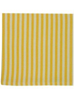 DII Canary Yellow Petite Stripe Napkins
