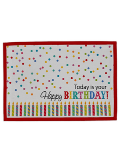 DII Today is your Birthday! Printed Placemat