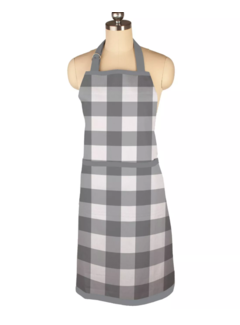 Gingham Gray Apron