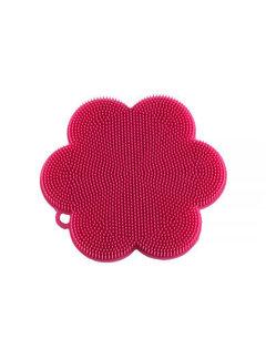 Kuhn Rikon Stay Clean Scrubber Flower Pink