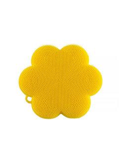 Kuhn Rikon Stay Clean Scrubber Flower Yellow