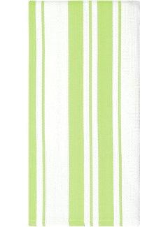 Pistacho Cotton Stripe Dish Towel