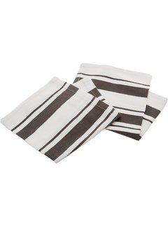 Pewter Cotton Stripe Dish Cloth - Set of 2