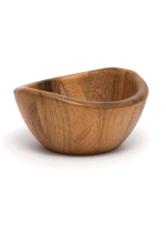 "Lipper Acacia 6"" Wave Rim Bowl"