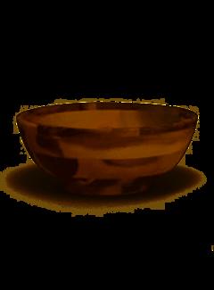 Lipper Acacia Footed Flared Bowl, Small