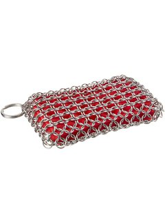 Lodge Chainmail Scrubbing Pad Red