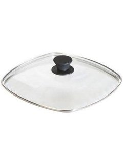 "Lodge Tempered Glass Lid, 10.5"" Square"
