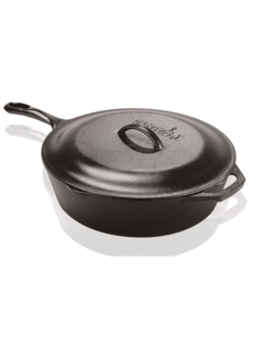 Lodge Cast Iron Covered Deep Skillet, 3.2 Qt.