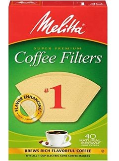 Melitta #1 Unbleached Coffee Filters - 40CT