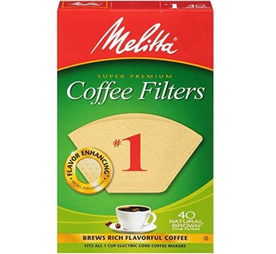 #1 Unbleached Coffee Filters - 40CT