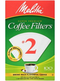 Melitta #2 Unbleached Coffee Filter - 100CT