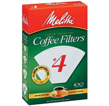 Melitta #4 Bleached Coffee Filter - 100 CT
