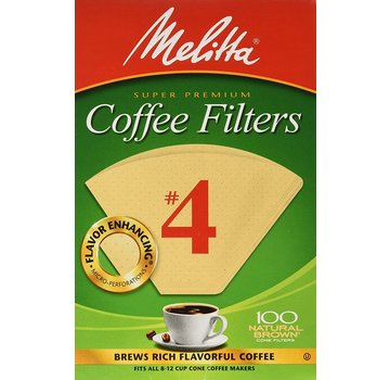 Melitta #4 Unbleached Coffee Filter - 100CT