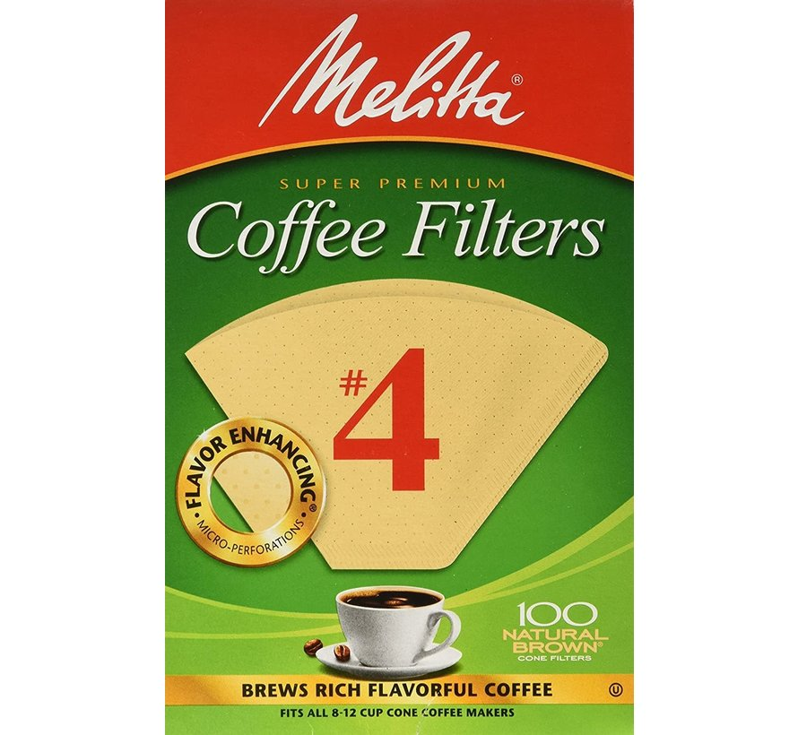 #4 Unbleached Coffee Filter - 100CT