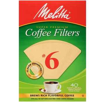 Melitta #6 Unbleached Coffee Filter - 40CT
