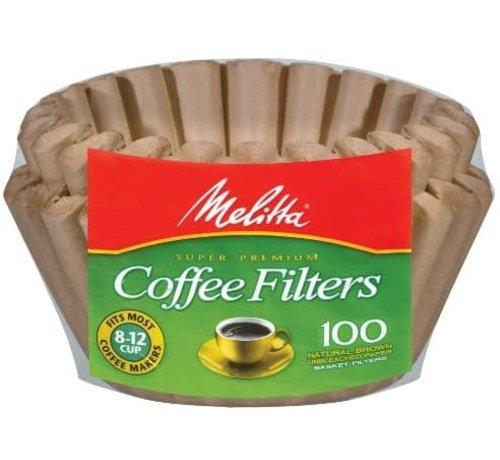 Melitta Basket Unbleached Coffee Filters - 100CT
