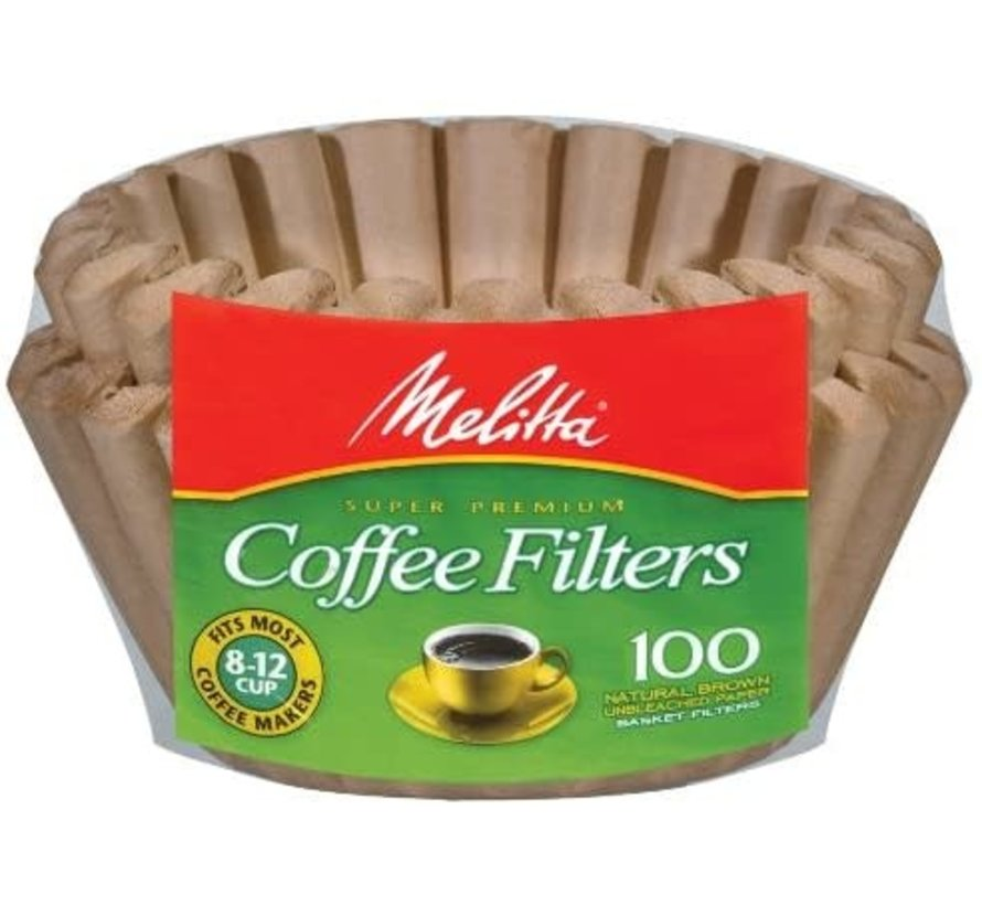 Basket Unbleached Coffee Filters - 100CT