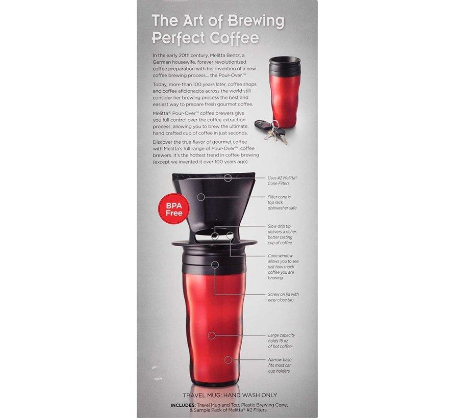 Pour-Over Travel Mug, Black