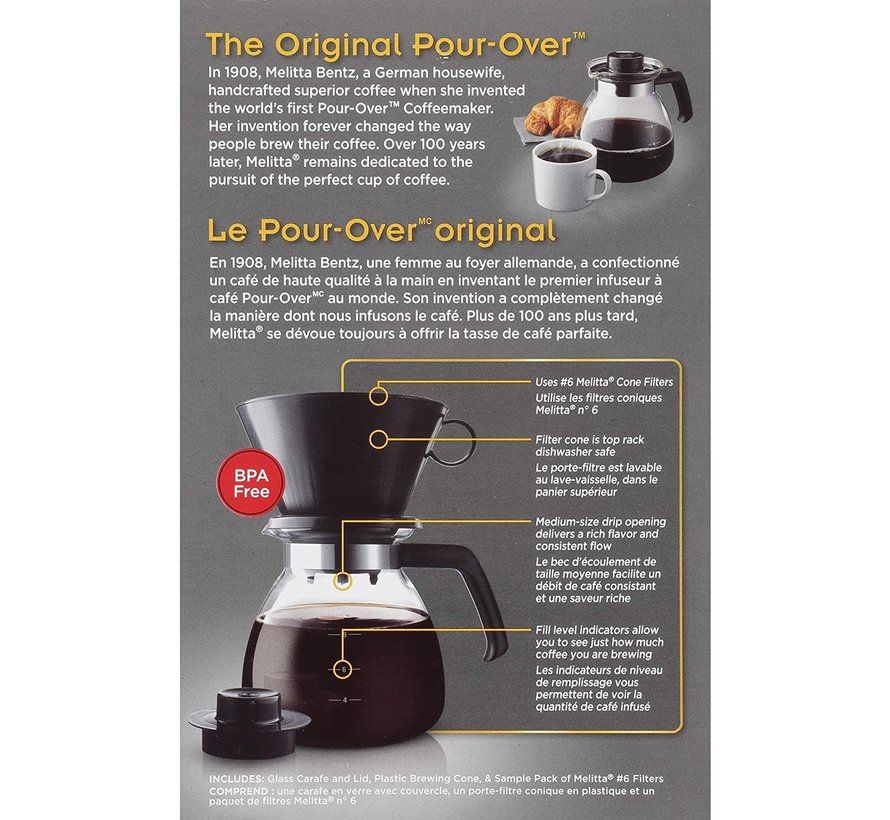 Pour-Over Coffee Brewer, 10 Cup