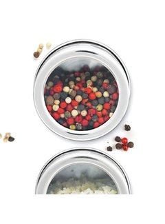 Mastrad Magnetic Spice Jars, Stainless Steel - Set of 2