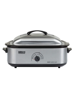 Nesco Roaster W/Porcelain Cookwell, 18 QT. Stainless Steel