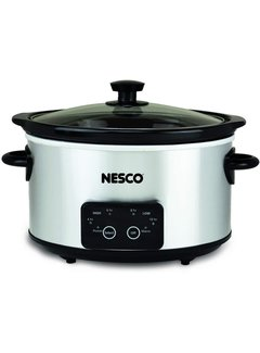 Nesco Slow Cooker, 4 Qt. Oval Stainless Steel