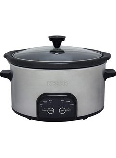 Nesco Slow Cooker, 6 Qt. Oval Stainless Steel