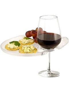 Wine 'n Dine Party Plate, Clear - SAN Polymer