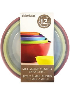 Port-Style 12 PC Melamine Bowls with Lids