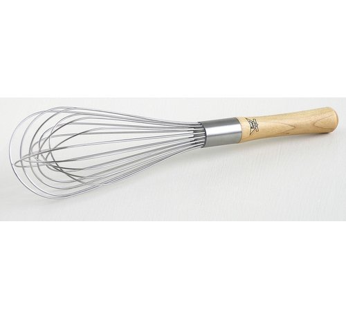 """Best Manufacturers 12"""" Balloon Whisk - Wood Handle"""