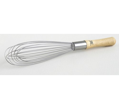 "Best Manufacturers 12"" Standard French Whisk - Wood Handle"